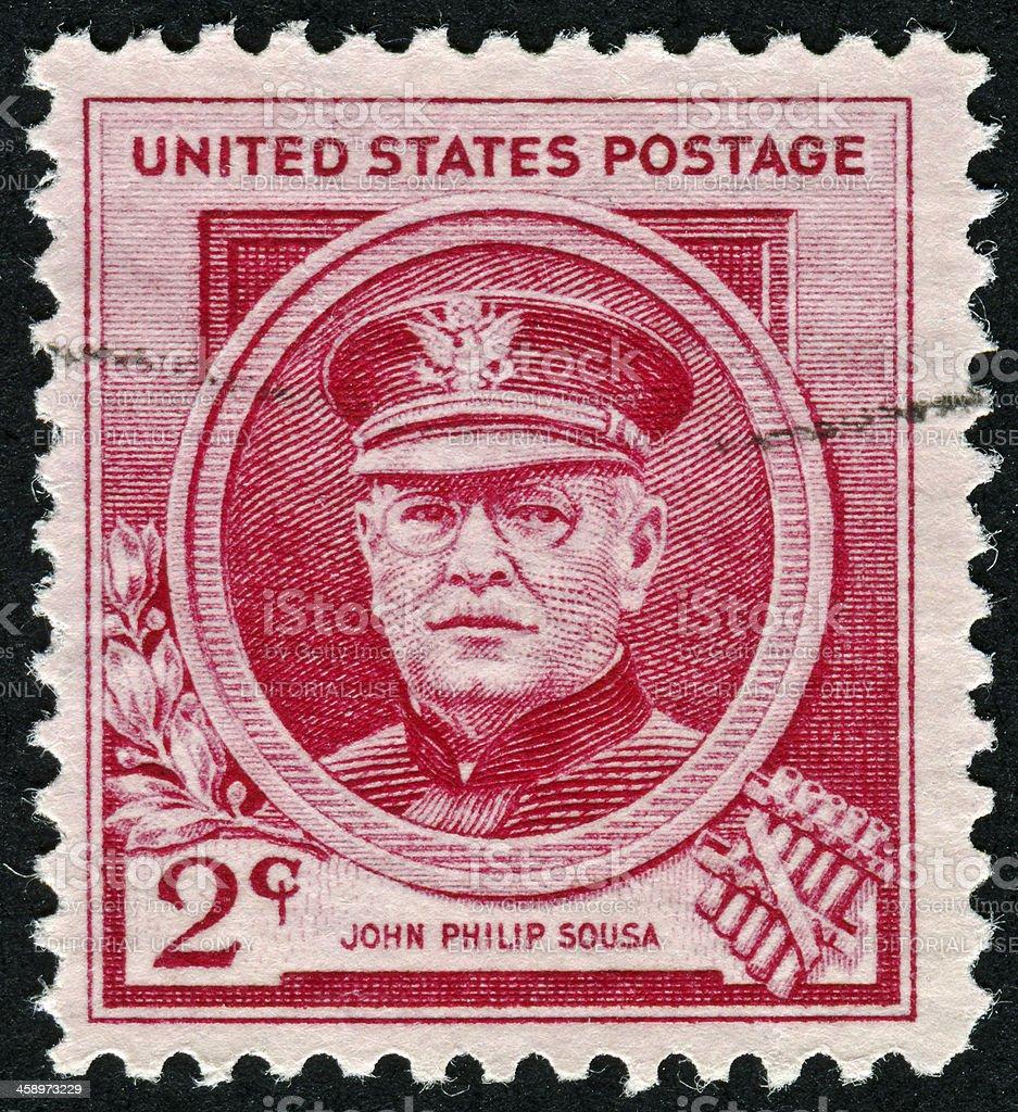 John Philip Sousa Stamp stock photo