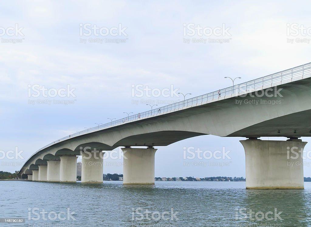 John Ringling Causeway, seen from Bayfront Park, in Sarasota, Florida stock photo