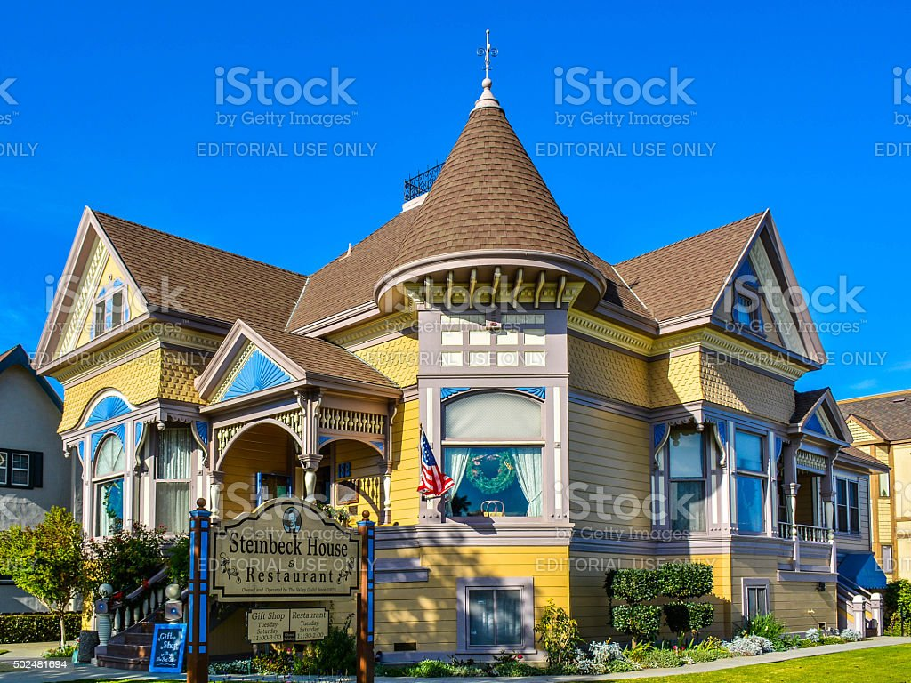 John Steinbeck Childhood Home - Salinas, CA stock photo
