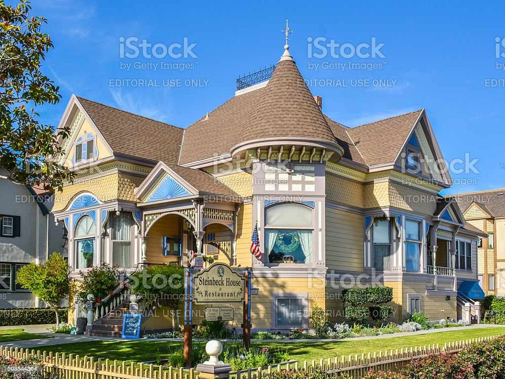 John Steinbeck Childhood Home, Salinas, CA stock photo