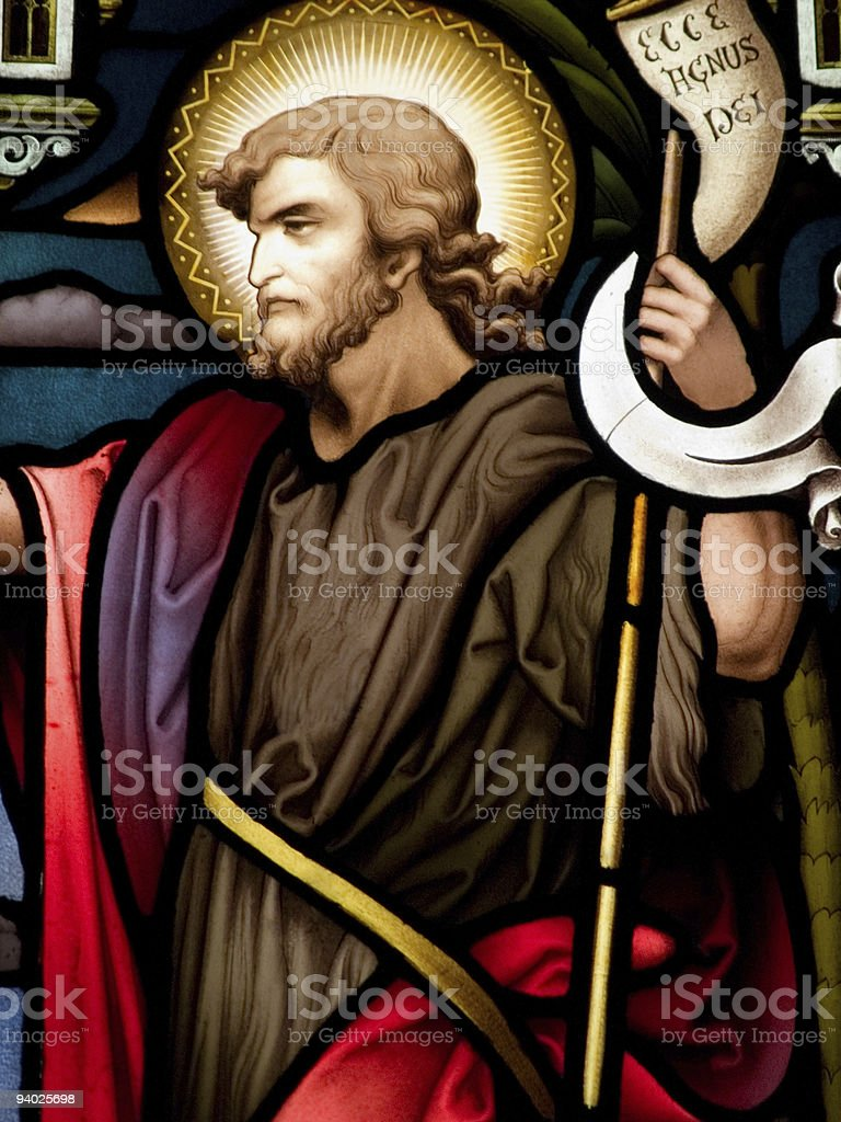 John the babysit in the biblical times stock photo
