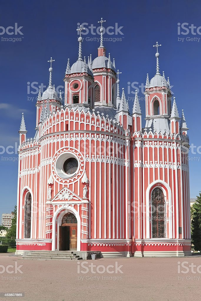 John the Baptist birth (Chesmen) church. Saint-Petersburg.Russi stock photo