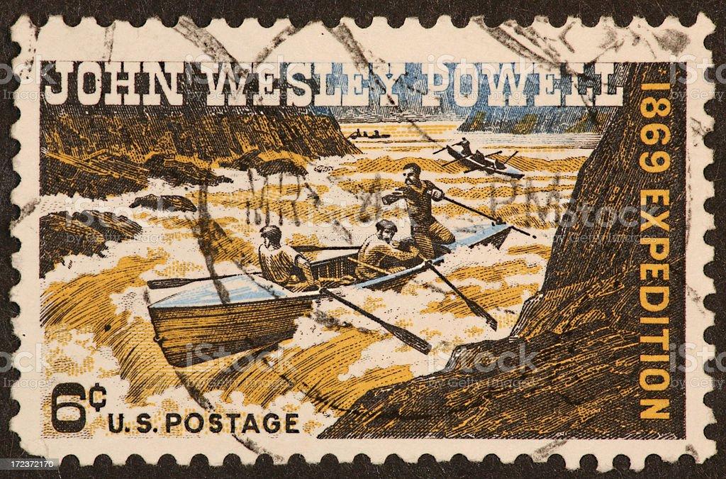 John Wesley Powell stamp stock photo