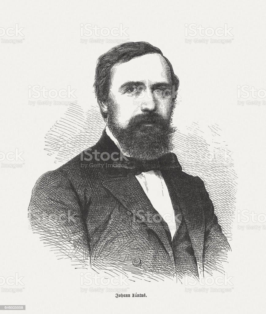 John Xantus (János Xántus, 1825-1894), Hungarian zoologist, published in 1865 stock photo