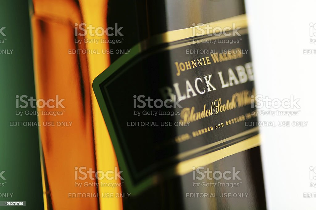 Johnnie Walker black label whiskey royalty-free stock photo