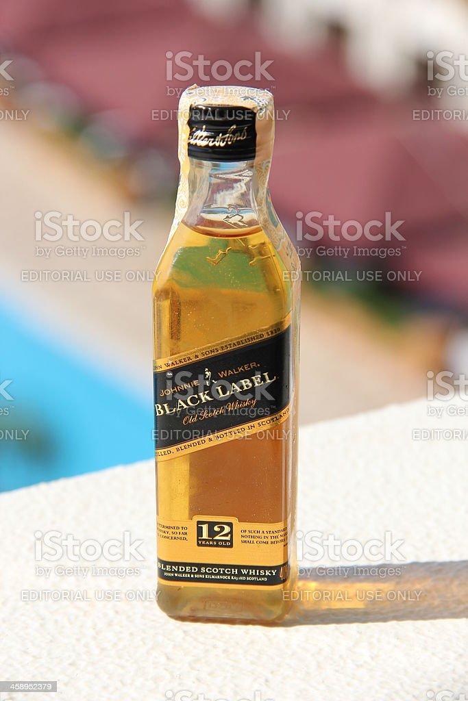 Johnnie Walker black label whiskey royalty-free stock photo