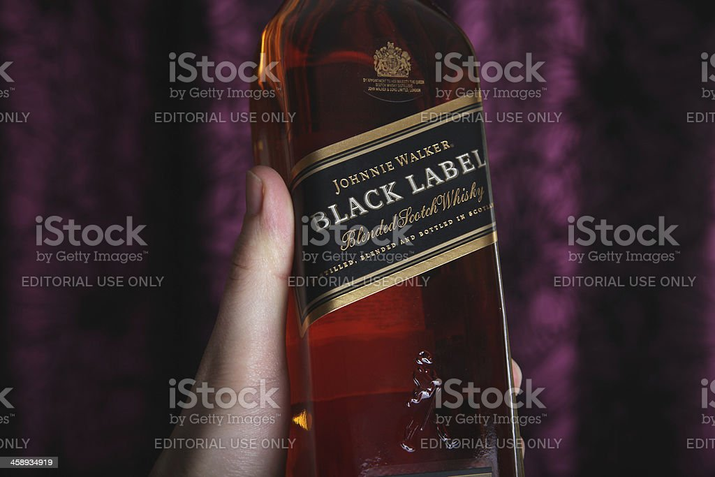 Johnnie Walker Black Label Whisky royalty-free stock photo