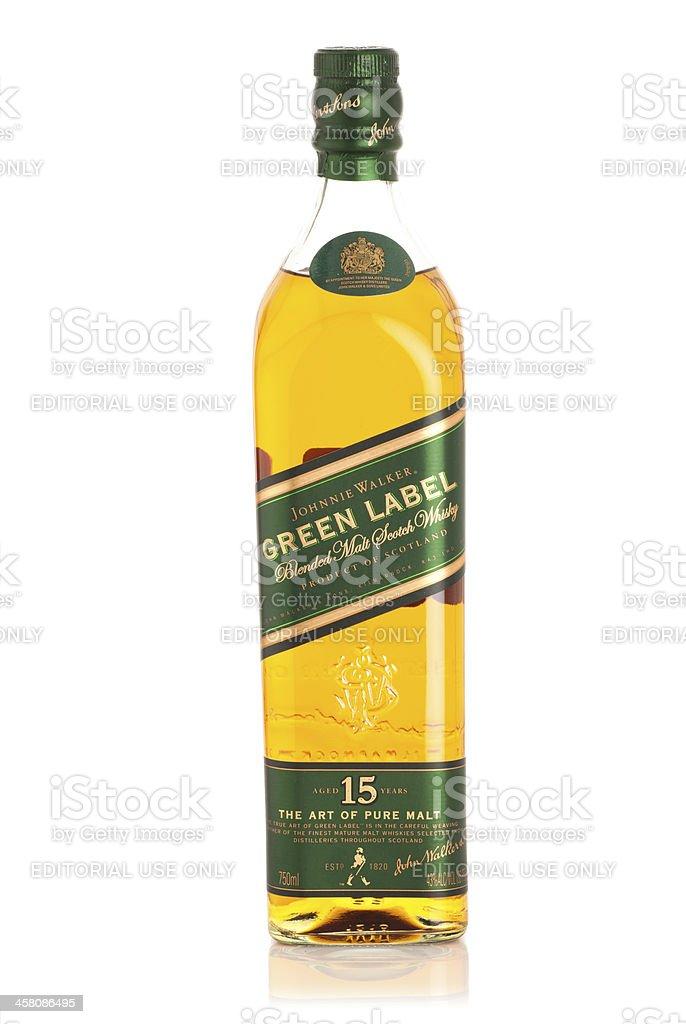 Johnnie Walker Green Label Scotch Whisky stock photo