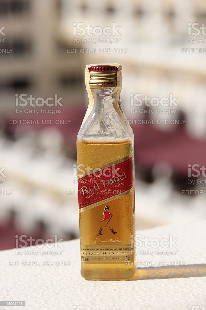 Johnnie Walker Scotch Whisky Bottle royalty-free stock photo