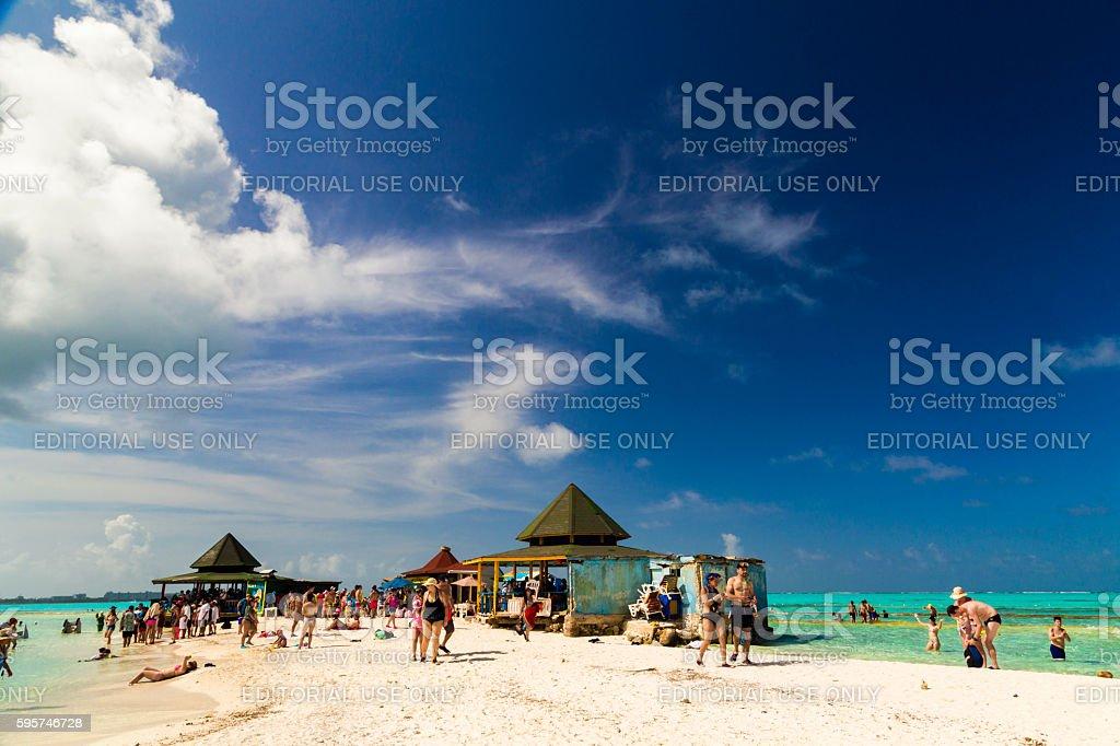 Johnny Cay island stock photo