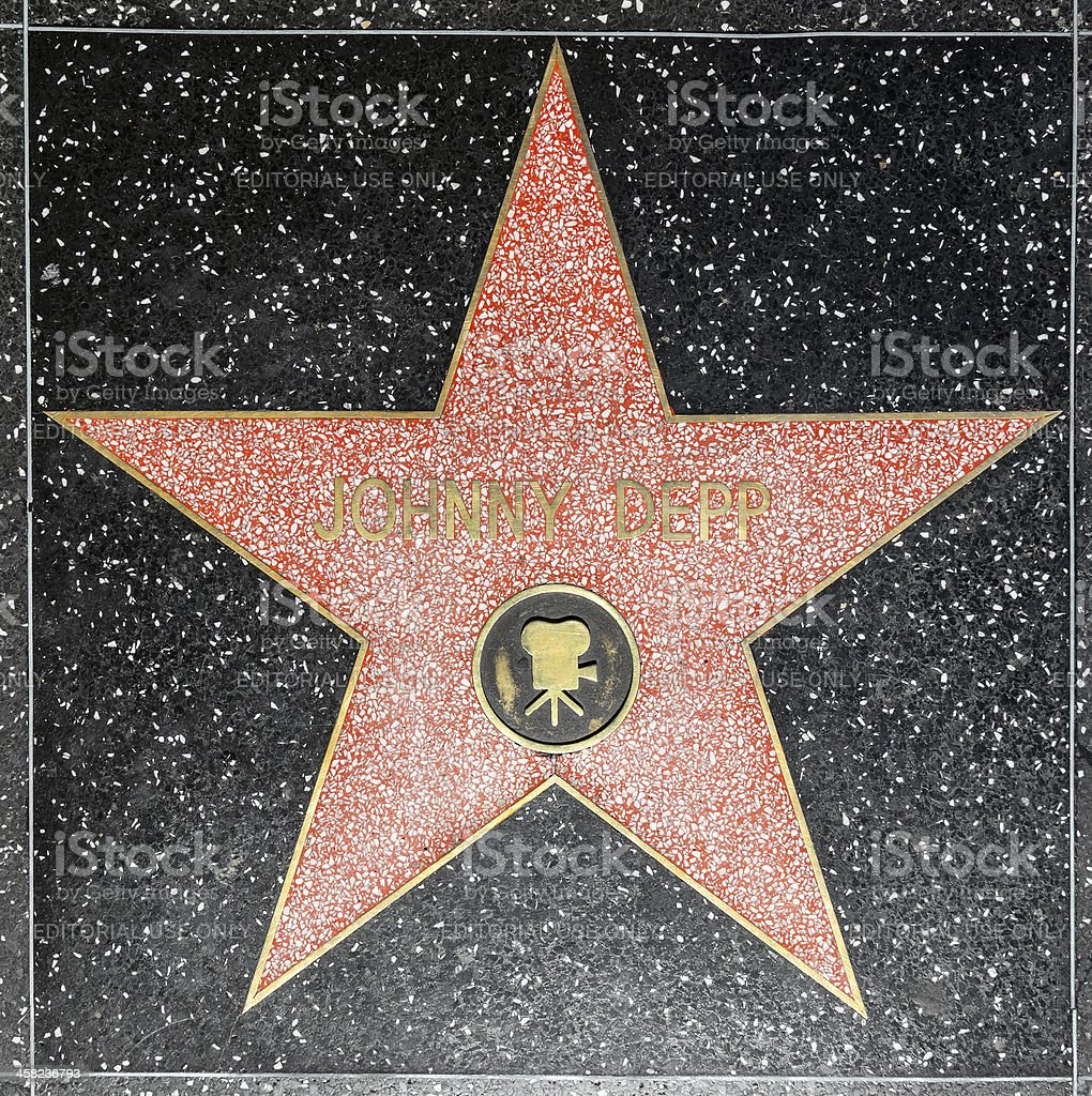 Johnny Depps star on Hollywood Walk of Fame royalty-free stock photo