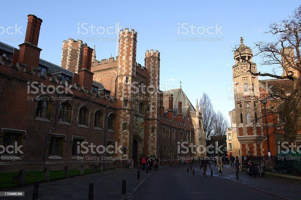 Johns college, Cambridge University, England royalty-free stock photo