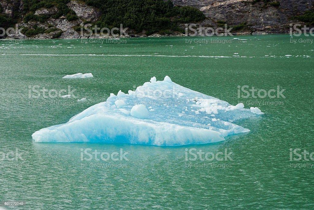 johns hopkins glacier with blue ice in glacier alaska stock photo
