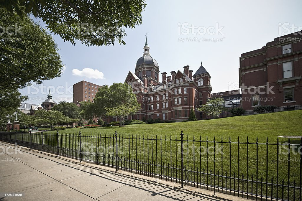 Johns Hopkins Hospital in Baltimore royalty-free stock photo