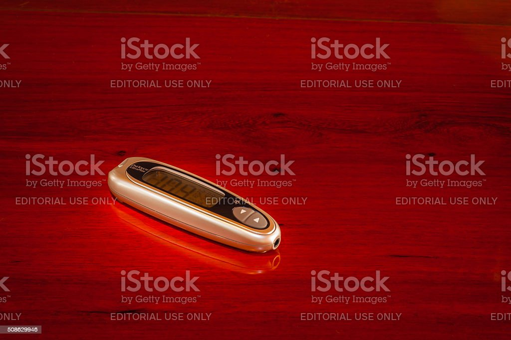 Johnson and Johnson OneTouch UltraMini Glucometer stock photo
