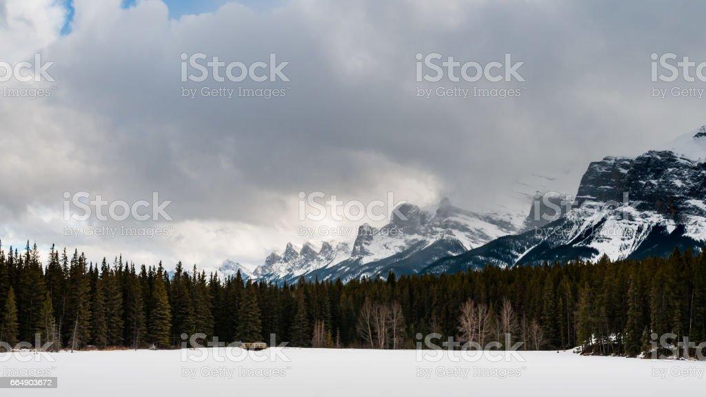 Johnson Lake stock photo