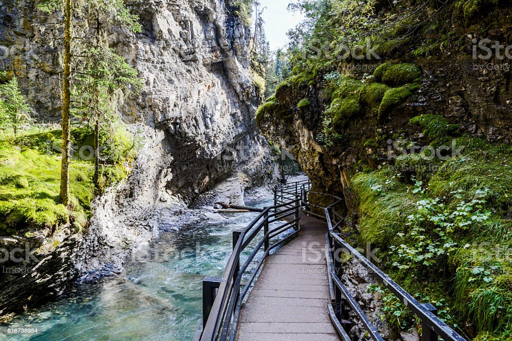 Johnston Canyon, Banff National Park, Alberta, Canada stock photo