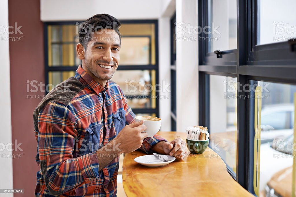 Join me for a cup? stock photo
