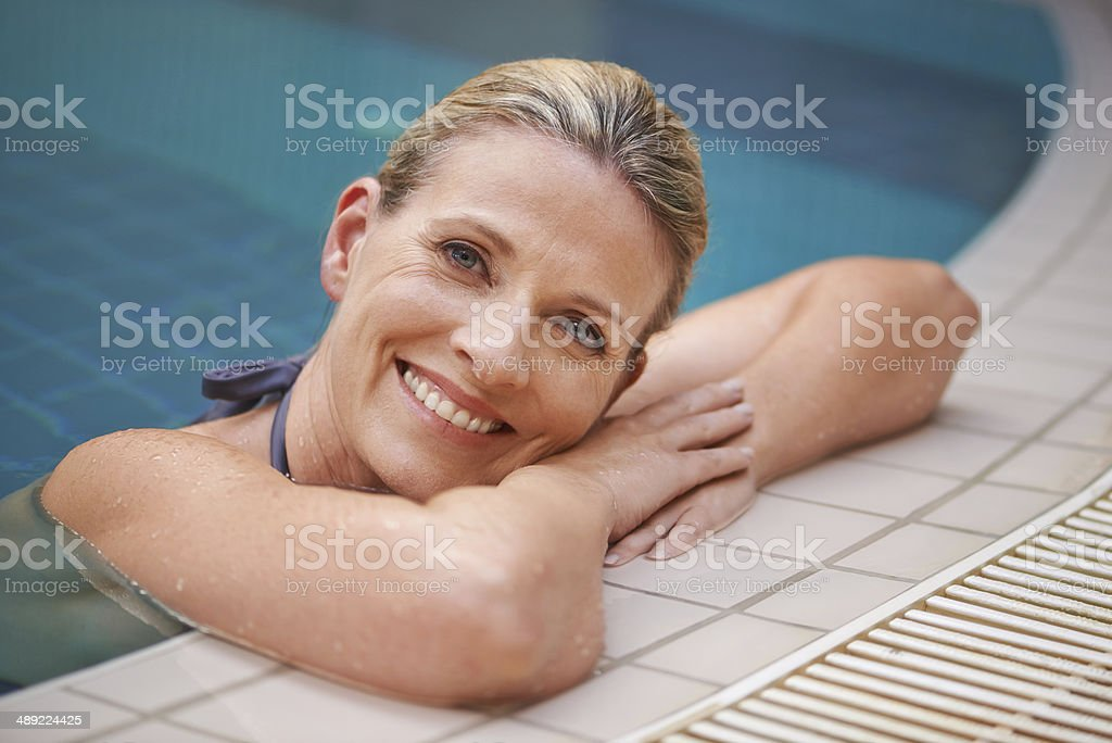 Join me for a dip? stock photo