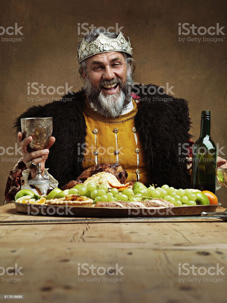 Join me for a royal feast! stock photo