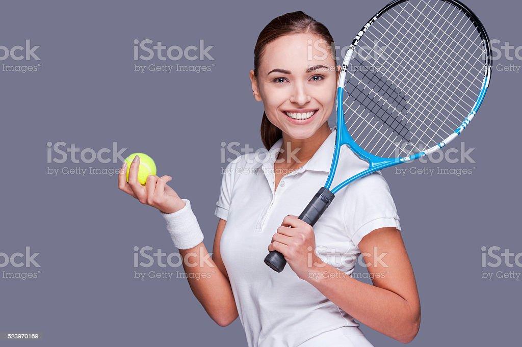 Join me for tennis? stock photo