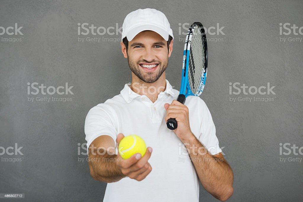 Join me! stock photo