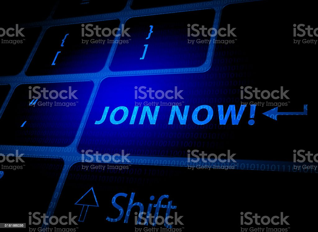 Join now stock photo
