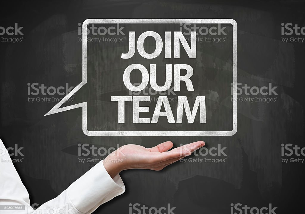 Join Our Team  / Blackboard concept (Click for more) stock photo
