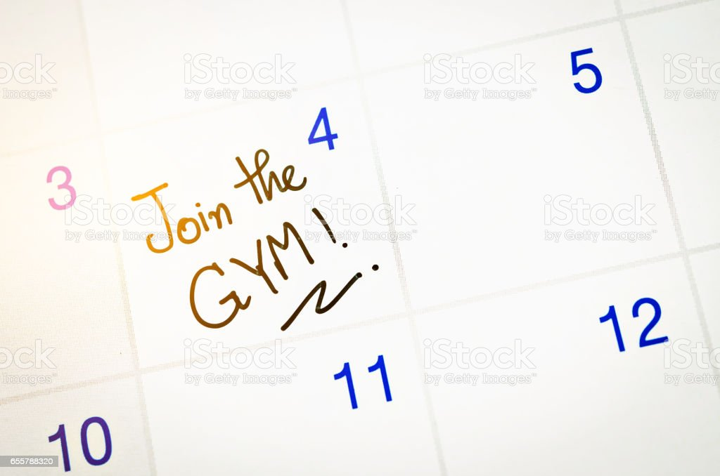 Join the Gym word stock photo
