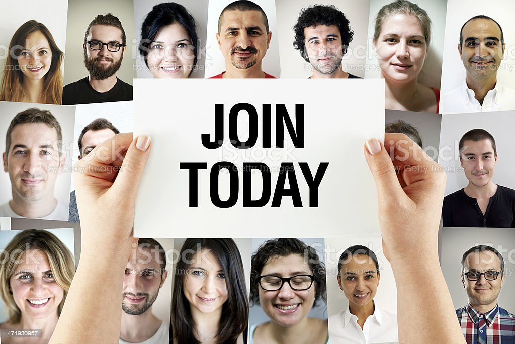 Join Today stock photo