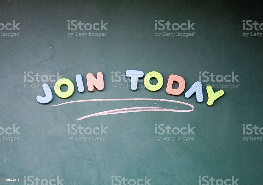 join today sign stock photo