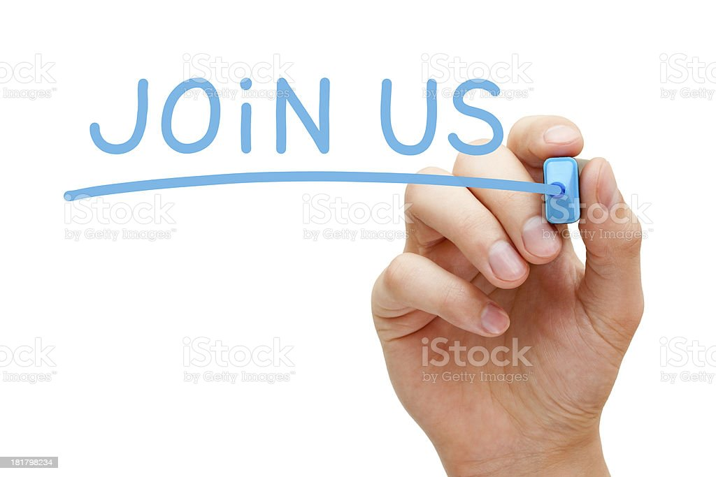 Join Us Concept stock photo