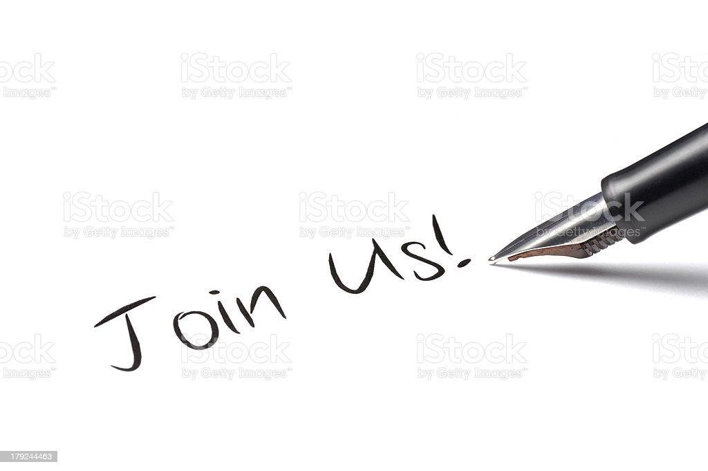 Join Us! royalty-free stock photo