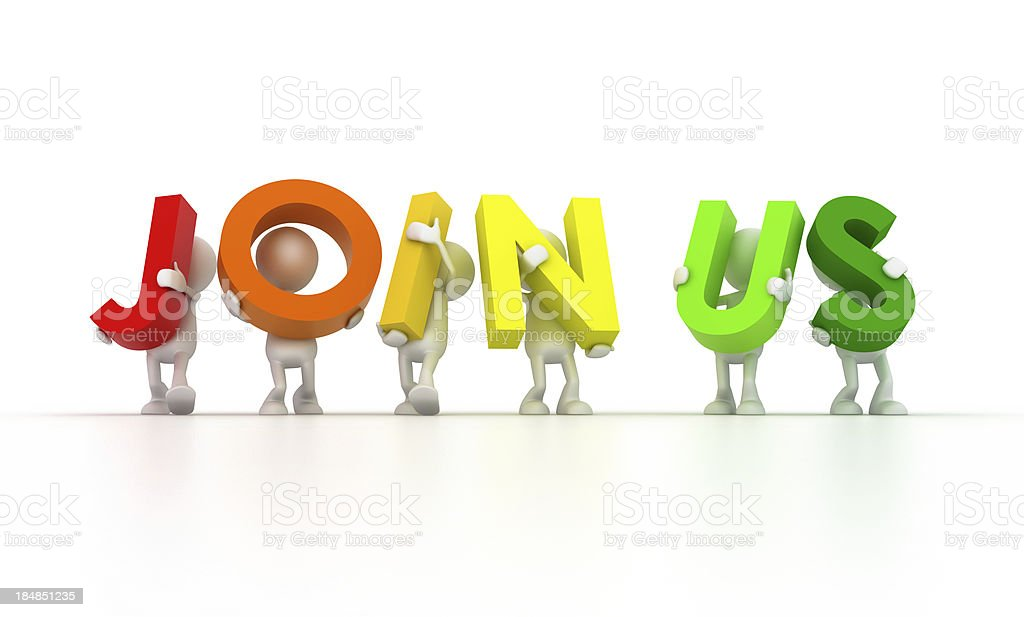 Join Us royalty-free stock photo