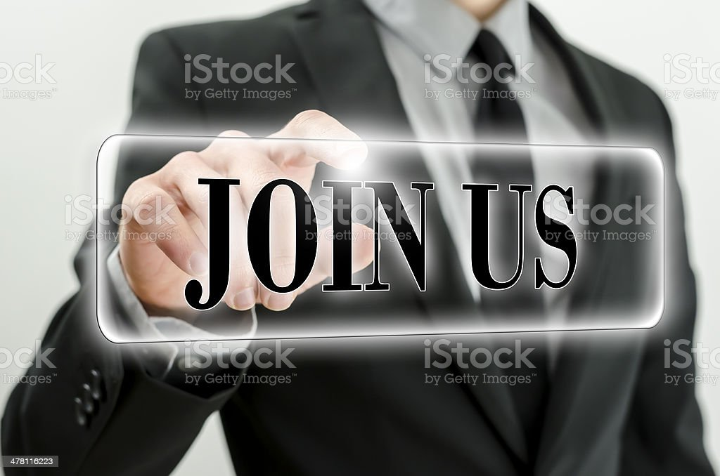 Join us stock photo