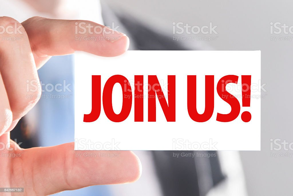 Join us! stock photo