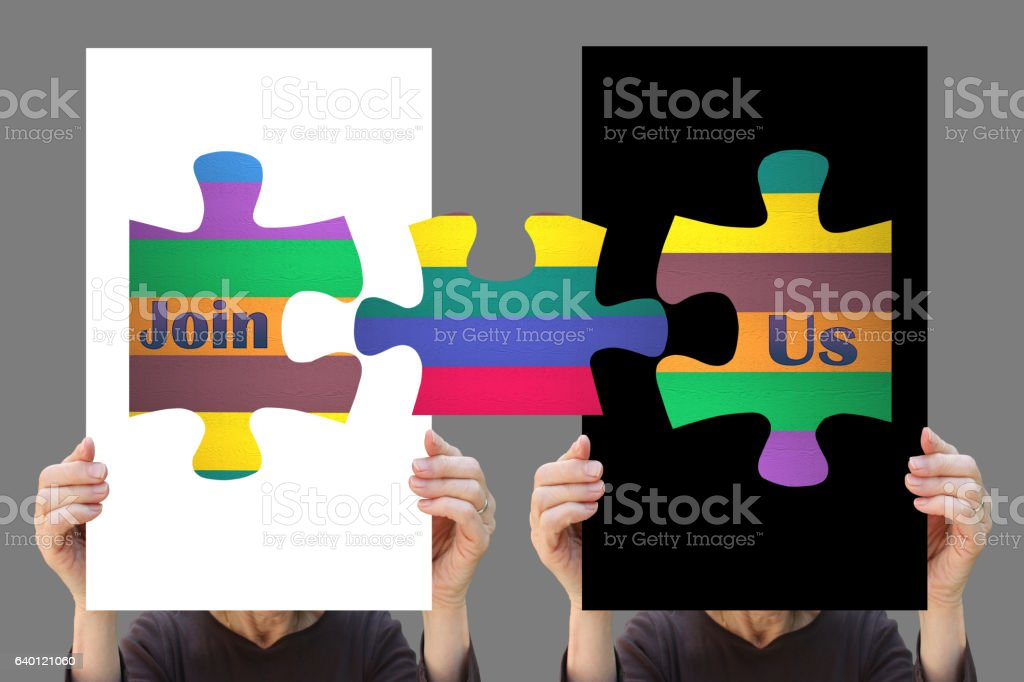 Join us ! stock photo