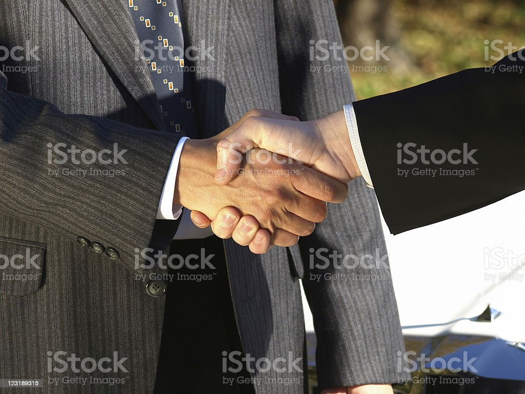 Joined in business royalty-free stock photo