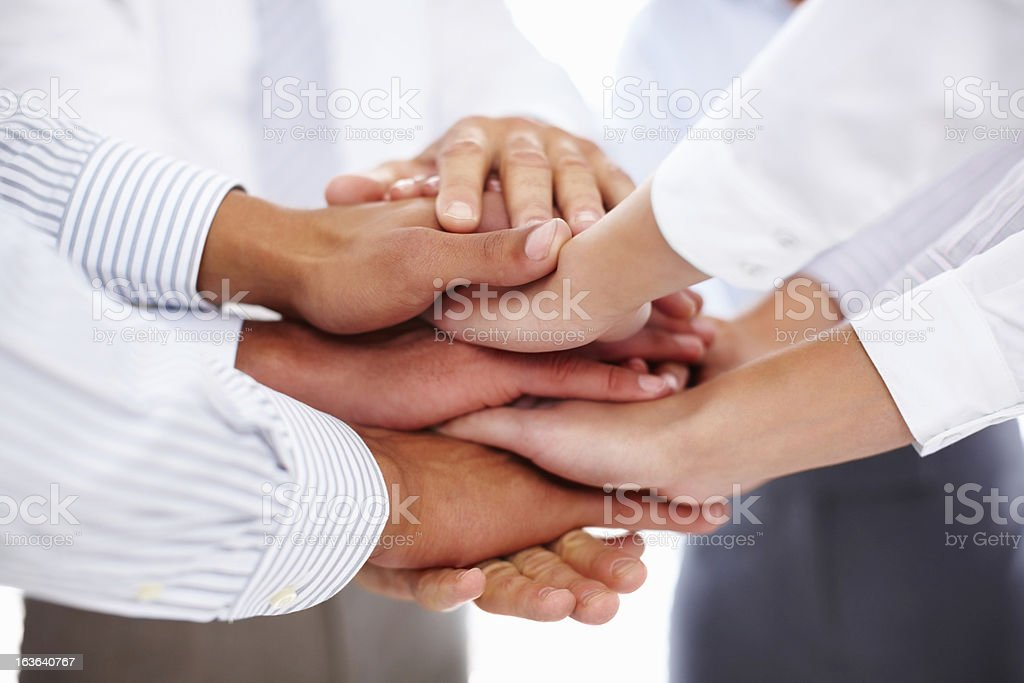 Joined in business stock photo