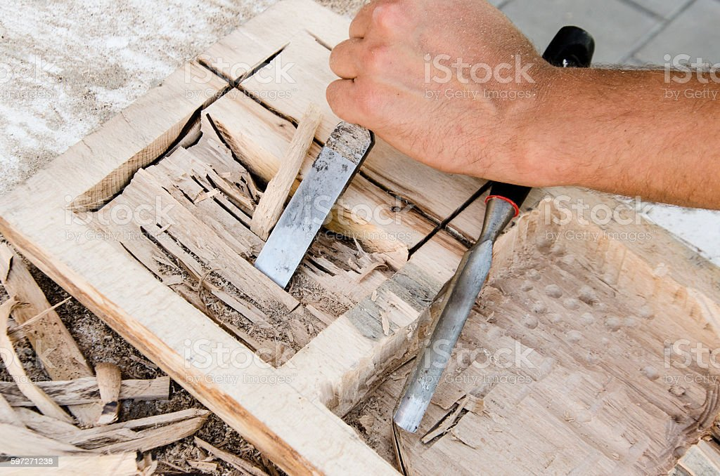 joinery tools stock photo