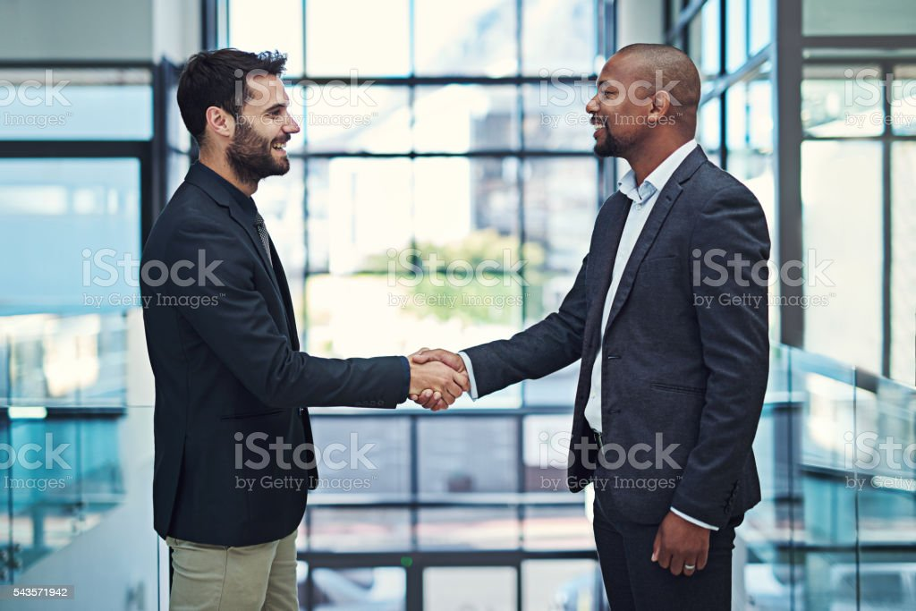 Joining resources for a profitable partnership stock photo