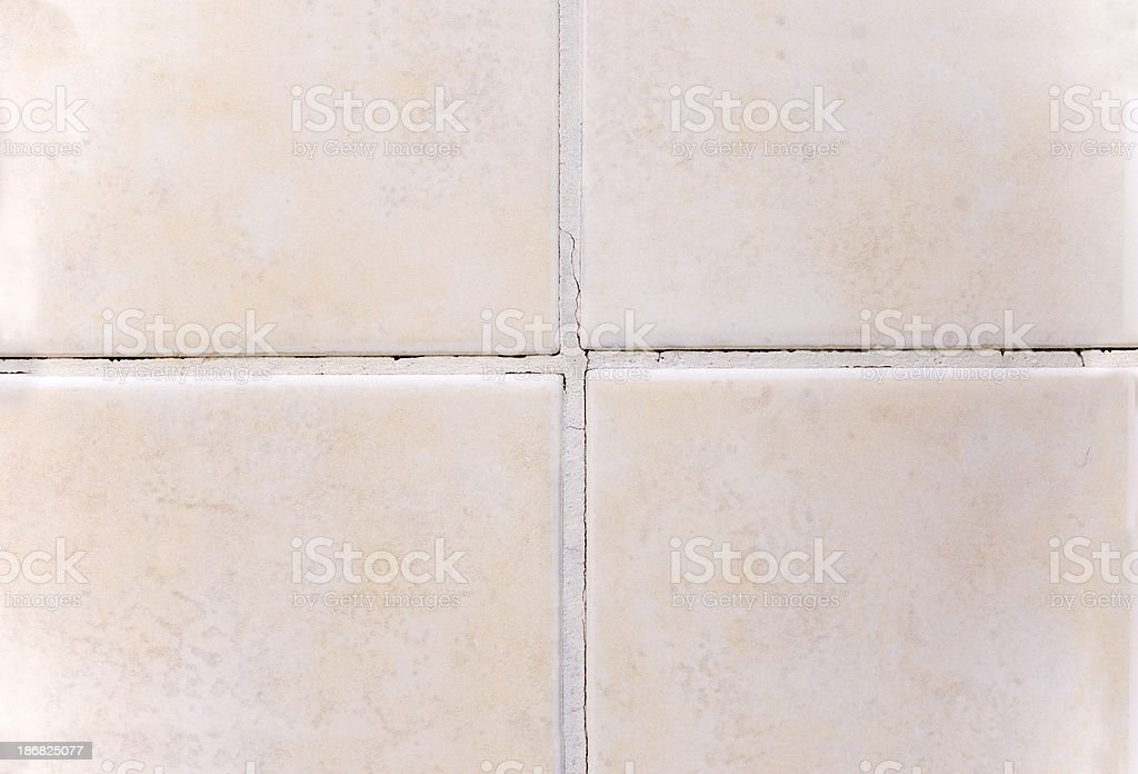 Joint Grout Damaged royalty-free stock photo
