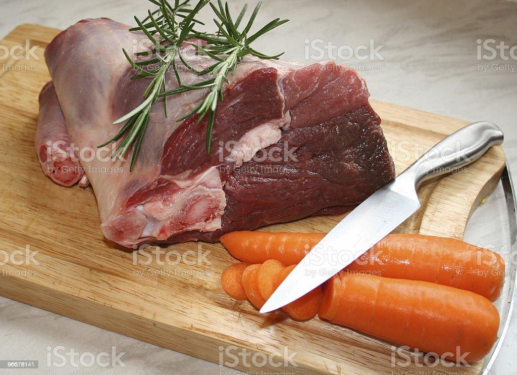 Joint of lamb royalty-free stock photo