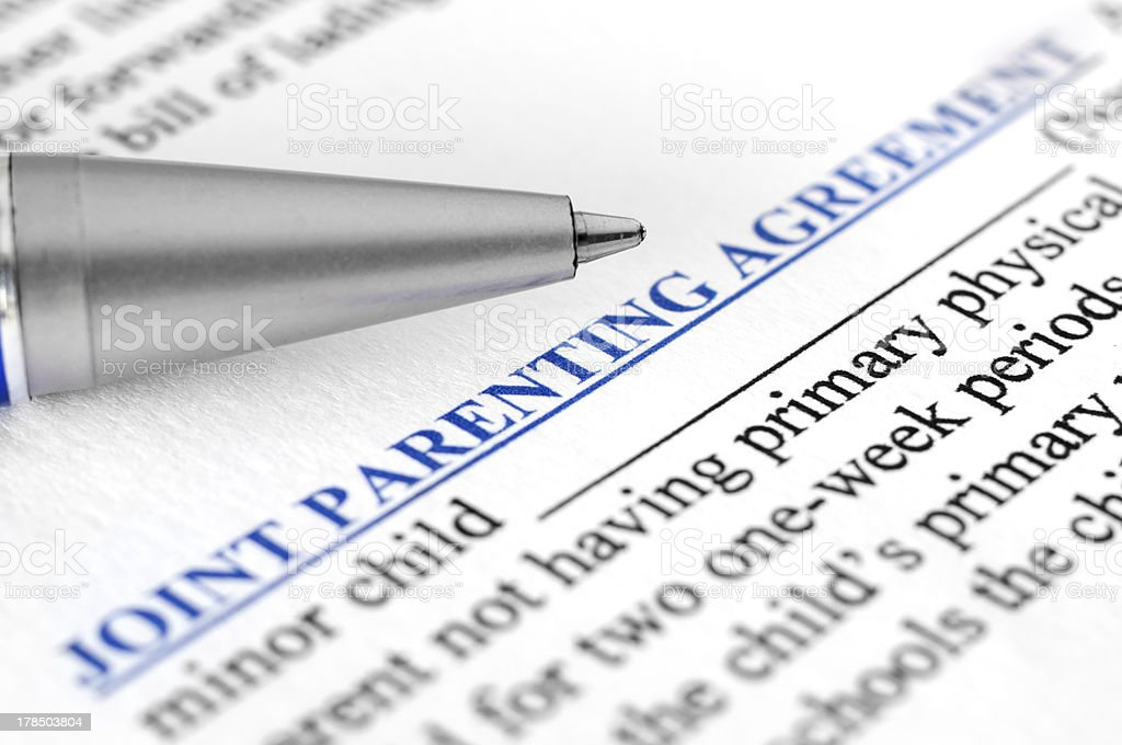 Joint parenting agreement royalty-free stock photo