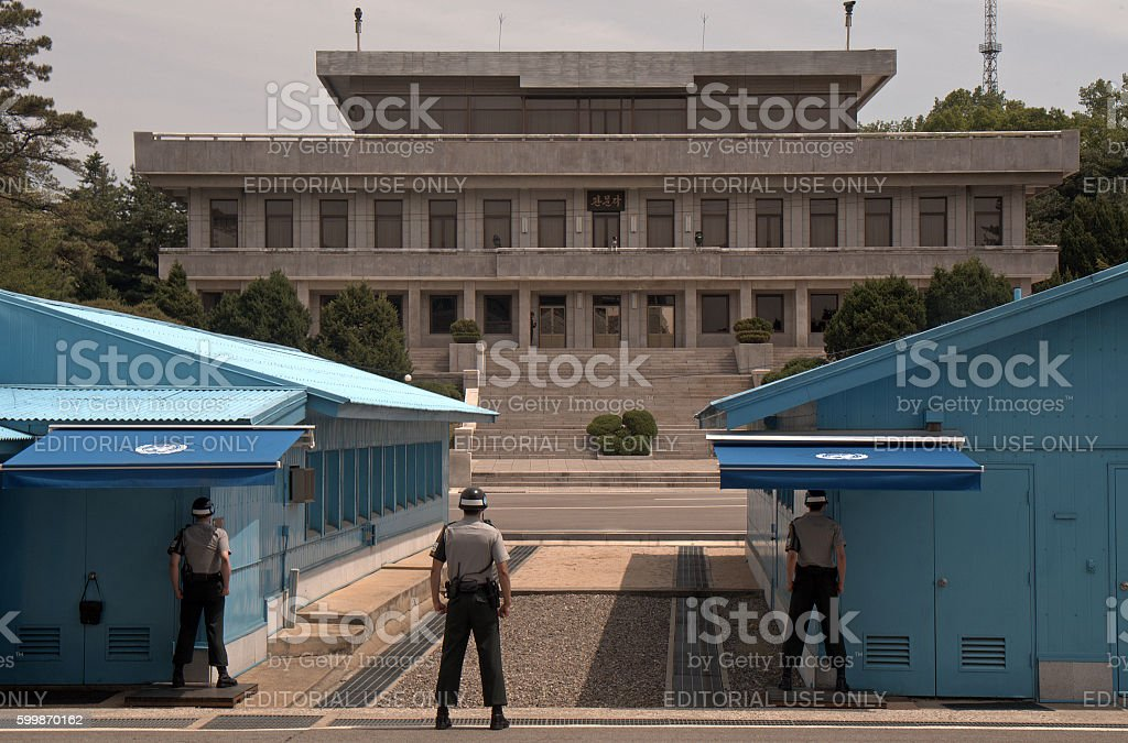 Joint Security Area, Panmunjon, Korean Republic stock photo