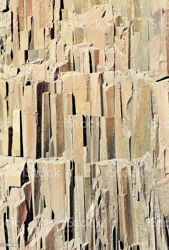 Jointed basalt columns stock photo