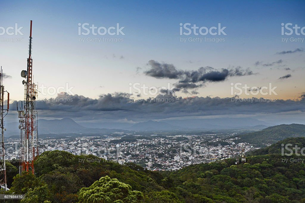 Joinville aerial view stock photo