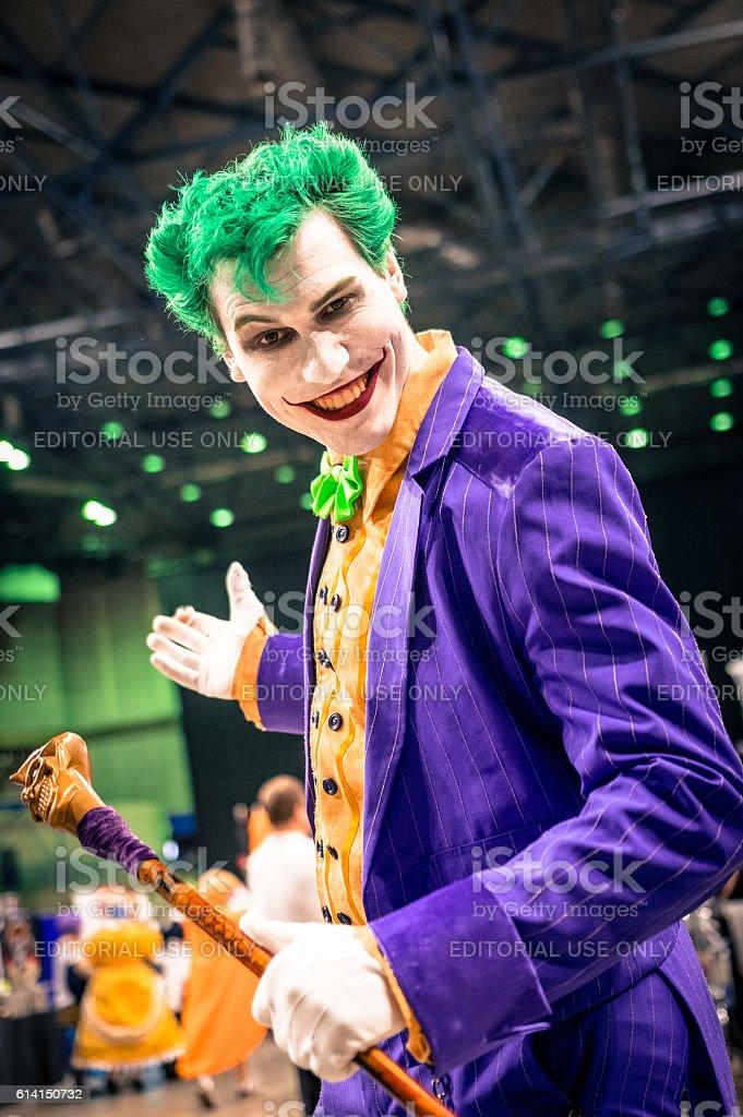 Joker Cosplay stock photo