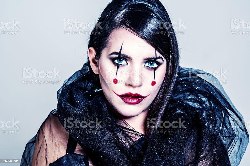 Joker Lady stock photo