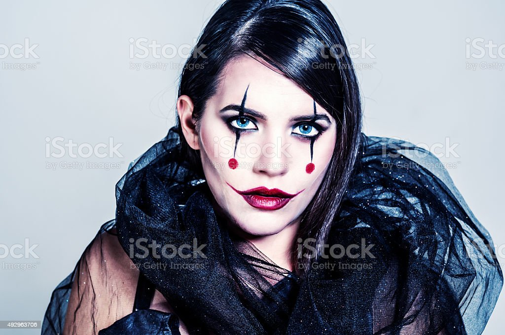 Joker Lady stock photo